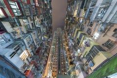 Старые и новые жилые дома в Гонконге Стоковая Фотография