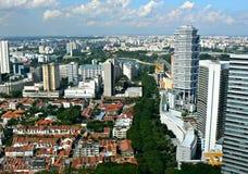 Старые и новые здания, Сингапур Стоковое фото RF