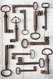 Старые и новые ключи доступа стоковые фото