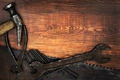 Старые и ржавые инструменты Стоковые Фото