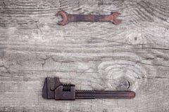 Старые и ржавые инструменты работы Стоковые Фото