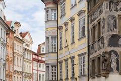 Старые и украшенные здания в Праге Стоковое фото RF
