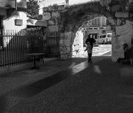 Старые каменные дороги в Sığacık Стоковая Фотография RF
