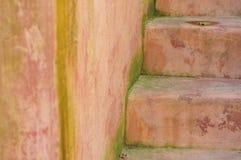 Старые каменные лестницы Стоковое Фото
