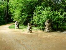 Старые каменные идолы в Нове Ascania стоковое изображение