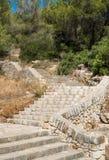 Старые каменные лестницы в Мальорке Стоковое Фото