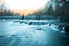 Старые каменные падения воды парка штата форта Стоковые Изображения