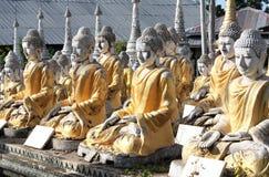Старые каменные статуи Будды, Bodhi Tataung, Monywa, Мьянмы Стоковое Изображение