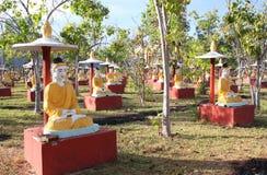 Старые каменные статуи Будды, Bodhi Tataung, Monywa, Мьянмы Стоковое Фото