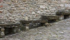 Старые каменные стенды в d'Acqui Montechiaro, Италии Стоковое фото RF