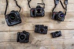 Старые камеры Стоковое фото RF