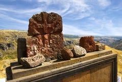 Старые камни Армении, Amberd стоковые фотографии rf