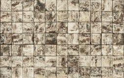 Старые картины керамических плиток стены Стоковое фото RF