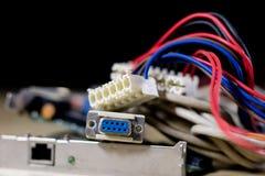 Старые карточки сети для настольных компьютеров Карточки сети с rj44 Стоковые Изображения RF