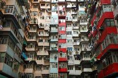 Старые квартиры в Гонконге Стоковые Фото