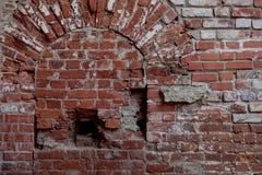 Старые кирпичные стены закрывают вверх Стоковые Изображения