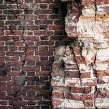 Старые кирпичные стены закрывают вверх Стоковое Изображение RF