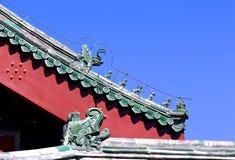 Старые китайские архитектурноакустические характеристики стоковое фото rf