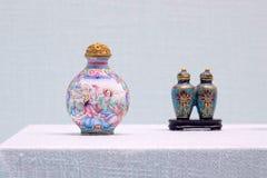 Старые китайские бутылки понюшки стоковое изображение rf