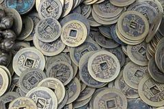 Старые китайские деньги Стоковые Изображения
