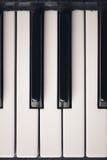 Старые ключи рояля стоковая фотография rf