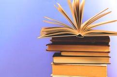 Старые книги закрывают вверх Стоковое Изображение