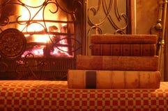 Старые книги огнем Стоковые Изображения RF