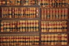 Старые книги по праву от 1800's Стоковое Изображение RF