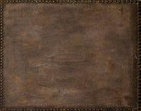 Старые кожаные ногти рамки стоковое изображение rf
