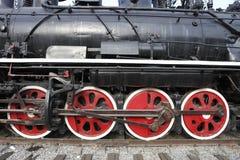 старые колеса поезда пара s Стоковое Изображение