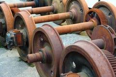 Старые колеса поезда стоковые изображения