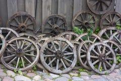 старые колеса фуры Стоковая Фотография RF