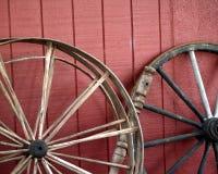 старые колеса фуры Стоковые Фото