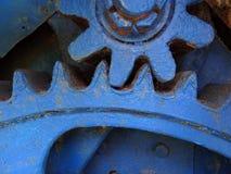 Старые колеса шестерни Закройте вверх по механически частям Стоковые Изображения