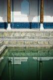 Старые колодцы и запасы воды в историческом огороженном городе шелкового пути стоковые фотографии rf