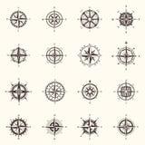 Старые компас или ветер навигации океана, моря подняли Стоковые Фото