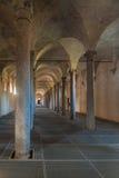 Старые конюшни, конструированные Леонардо Да Винчи, в Vigevano, Ita Стоковое Изображение RF