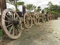 старые колеса деревянные Стоковое Фото