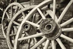 Старые колеса телеги Стоковая Фотография RF