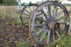Старые колеса телеги Стоковые Фотографии RF