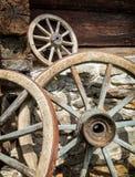 старые колеса фуры Стоковое фото RF