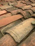 старые красные плитки крыши Стоковые Фотографии RF