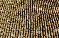 Старые красные плитки крыши Стоковое фото RF