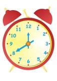 Старые красные часы иллюстрация штока
