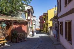 Старые красочные дома Odunpazari в Eskisehir Район Odunpazari назначение populer туристское в Eskisehir стоковые изображения