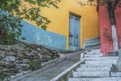 Старые красочные дома стоковая фотография rf