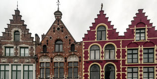Старые красочные фасады Стоковые Изображения