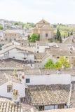 Старые крыши плитки Chinchon, Мадрида, Испании Взгляд от верхнего s стоковая фотография rf