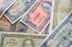 Старые кубинские деньги стоковые фотографии rf