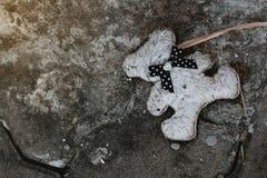 Старые куклы были выведены вдоль тропы Стоковая Фотография